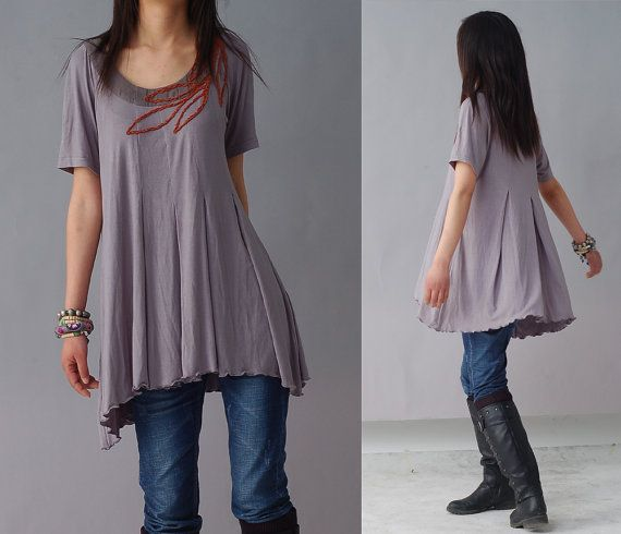 Loneliness is singing  hand embroidery top Y1208 by idea2lifestyle, $49.30