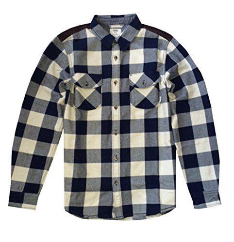 VANS Vans Mens Hixon Jacket Button Down Plaid White Blue. #vans #cloth #