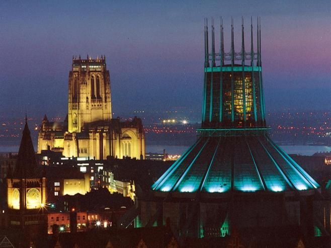 Liverpool's Cathedrals, Anglican and Catholic, Hope Street, Liverpool,   ANglican Twilight Tower (March-October) on Thursday evenings for our spectacular Twilight Tower experience. Through the summer, the bell tower can be open as late as 10pm, allowing visitors to take in a spectacular view of the city and beyond as the sun sets and the lights go on. Final tickets vary according to sunset times. The dates and times for 2013 can be found here.    (Tickets can now be ordered on-line)