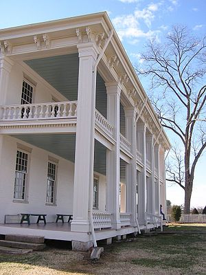 Carnton is a historic plantation house and museum in Franklin in Williamson County, Tennessee, I love the front porch!