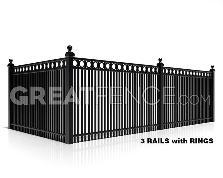 Residential Aluminum Fence Panel - Style 7