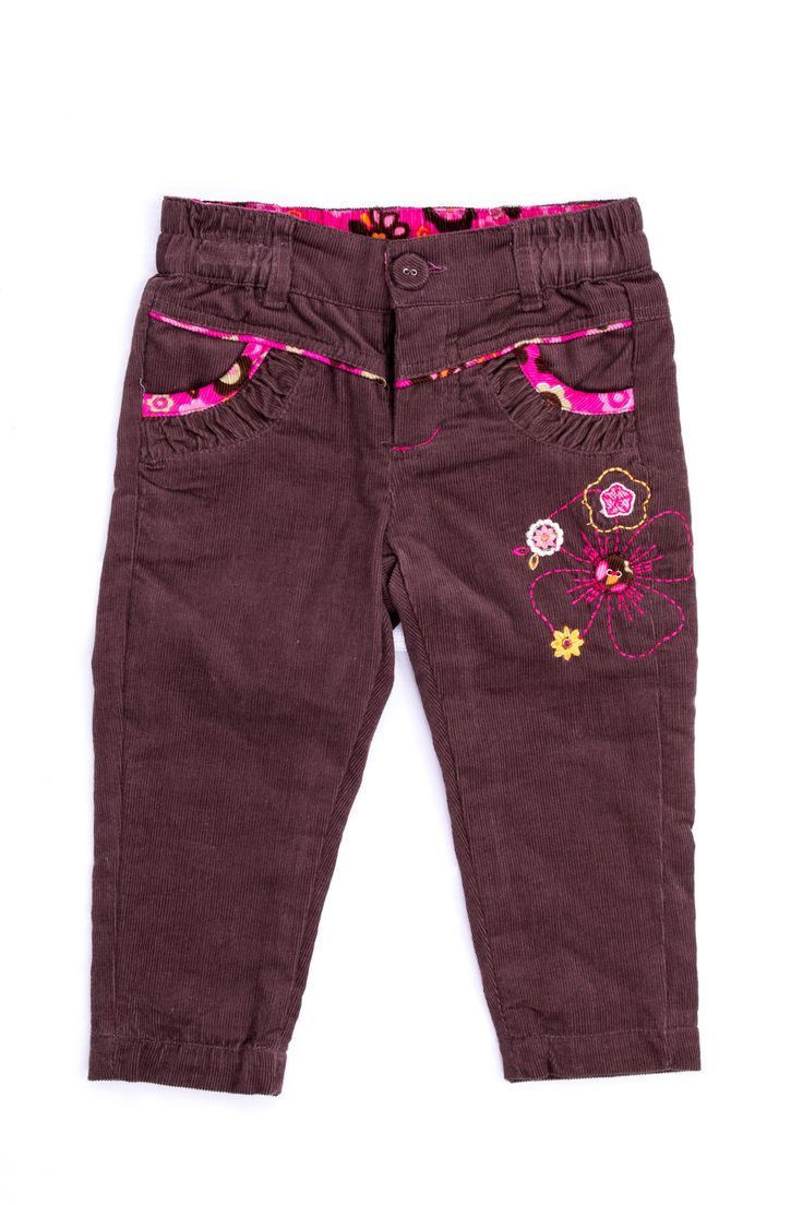 Pantalón de corduroy brown línea Sweet Forest