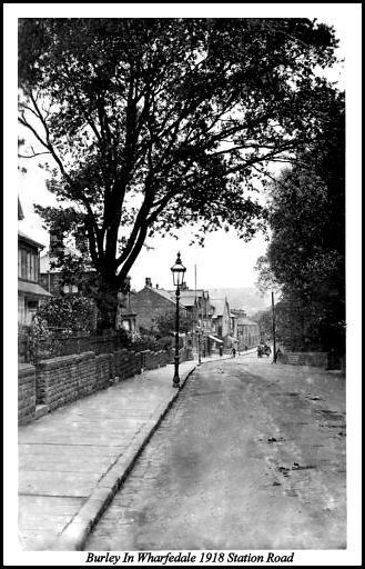BURLEY IN WHARFEDALE 1918 STATION ROAD