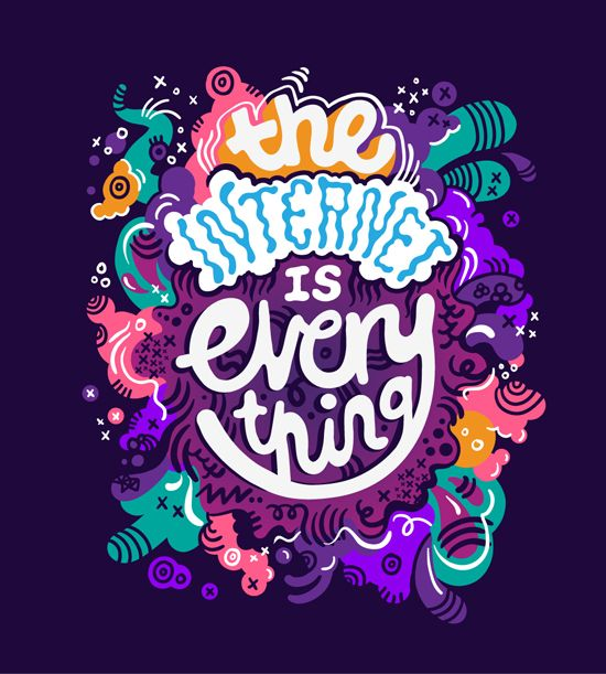 We agree! Kate Moross - The INTERNET IS everything. #typo #illustration