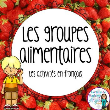 """Are you teaching your students about """"les 4 groupes alimentaires"""" in French? This jam packed resource will make an excellent addition to your Healthy Eating unit. Based on the Canada Food Guide, this package includes: - 5 Reference Posters (Fruits et légumes, Produits céréaliers, Viande et Substituts, Lait et substituts, Sucres et matières grasses) - 1,, food cards featuring a variety from each food group, as well as """"unhealthy choices"""" - Cut and paste acti..."""