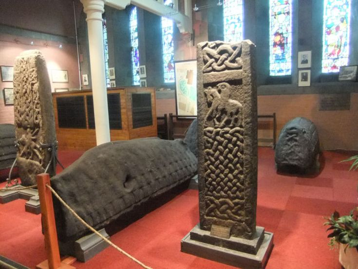 hogback stones | Some of the early mediaeval stones at Govan Parish Church