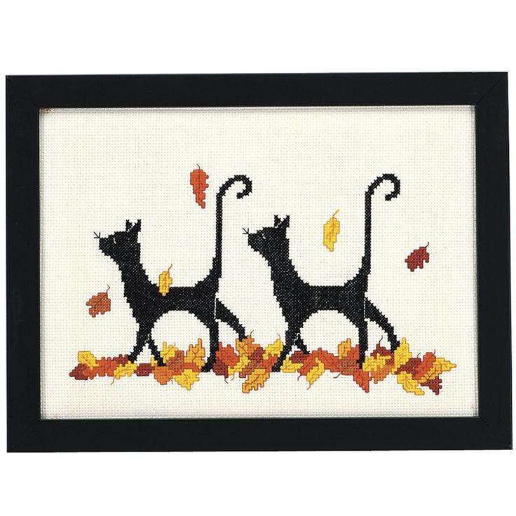 Autumn Cats - Cross Stitch, Needlepoint, Stitchery, and Embroidery Kits, Projects, and Needlecraft Tools | Stitchery