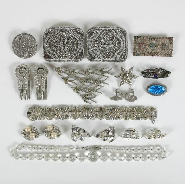 Art Deco/Vin Costume Jewelry Rhinestone Sterling