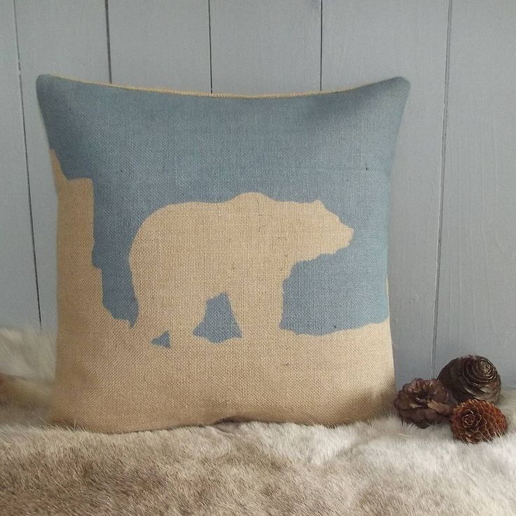 arctic polar bear cushion by rustic country crafts | notonthehighstreet.com