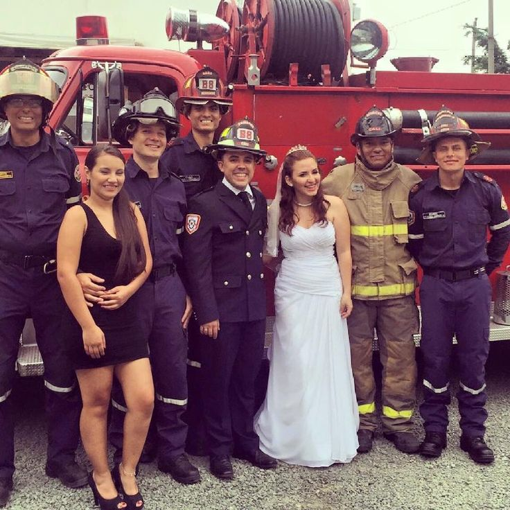 Firefigther wedding
