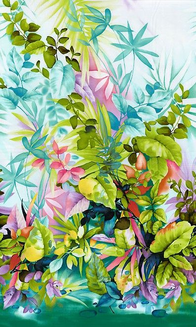 Paradise Island Cotton Fabric by Michael Miller