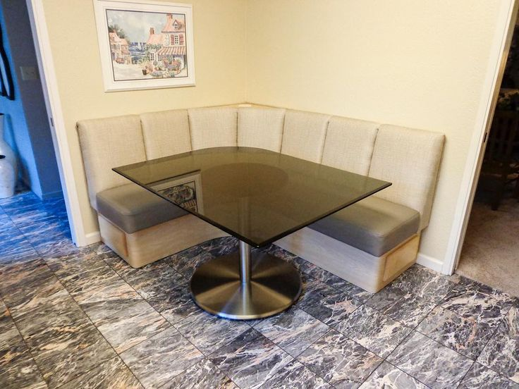 Our Argent 28 Satin Chrome Table Base In A Custom Banquette By Boulder  Creek Booth