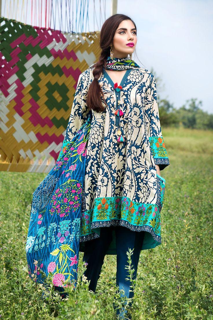 Khaadi -  A16606 B BLUE - Unstitched - Sale