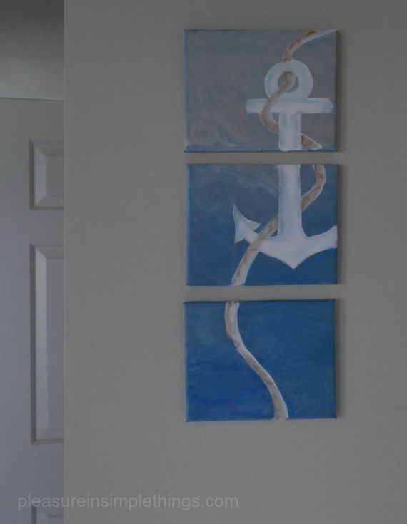 Making an anchor triptych...click through to blog to see the how to :)