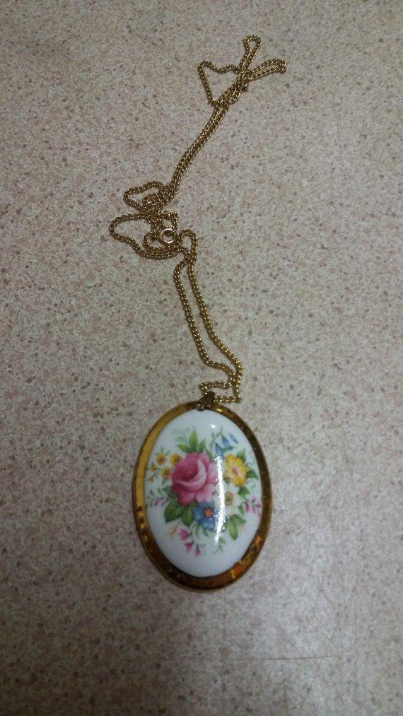 Lady Eleanor Fine bone china necklace Made by English fine bone china co Vintage…