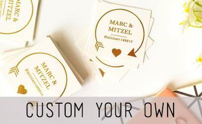 custom temporary tattoo metallic wedding favors