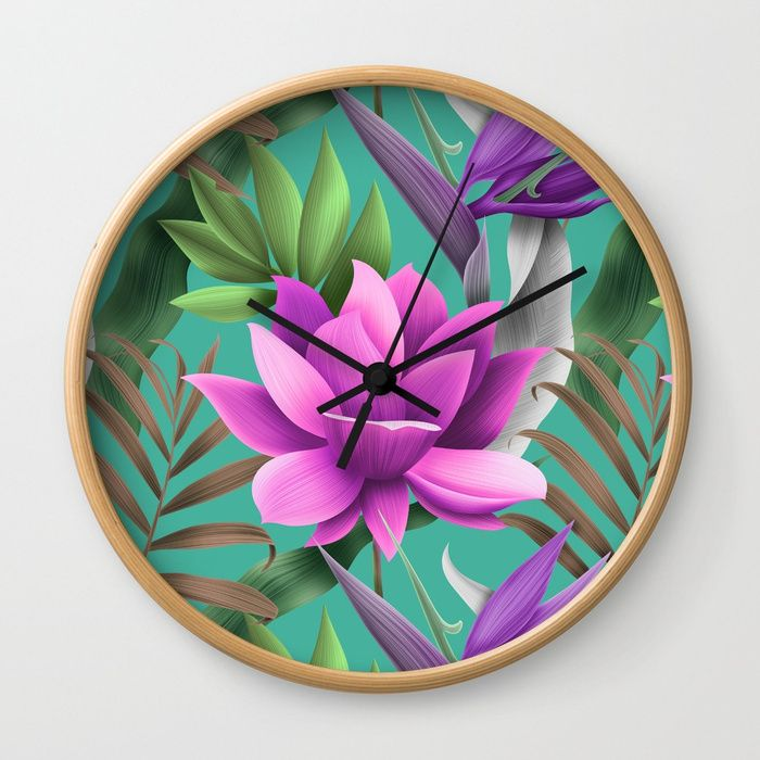 The Glamour Lotus Wall Clock Rethink The Traditional Timepiece As