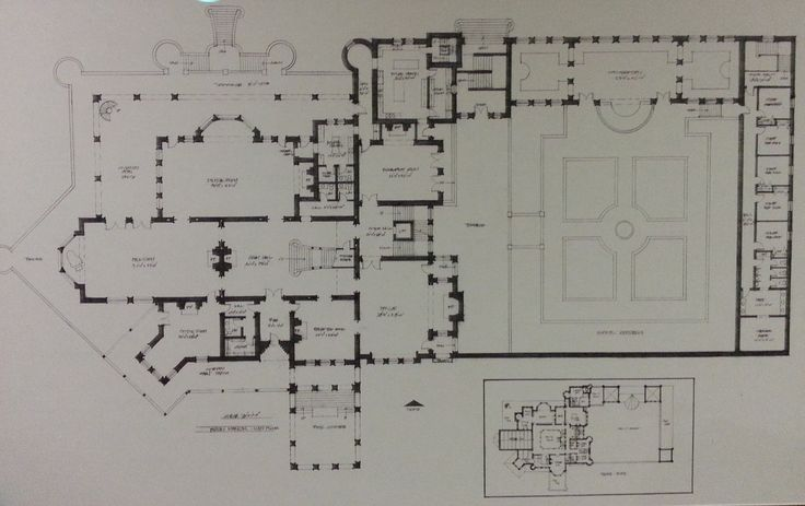 Bren manor my own design inspired by boldt castle for Spear house blueprints