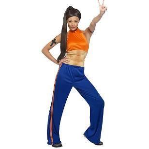 Sporty Spice Wannabe 90s Fancy Dress Costume