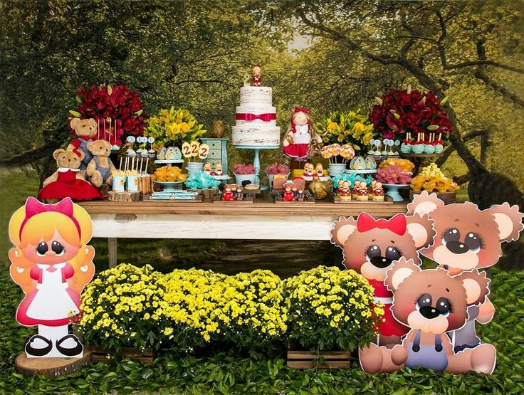 Muito fofa esta Festa Cachinhos Dourados! DecoraçãoAdriana Bauman da Lulu Celebrate. Lindas ideias e muita inspiração! Bjs, Fabiola Teles.           ...