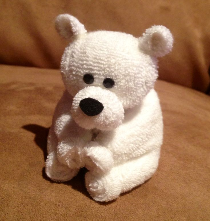 Baby washcloth teddy bear