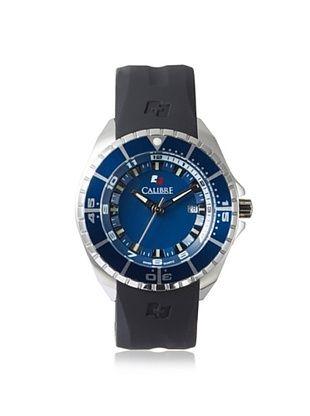 71% OFF Calibre Men's 4S2-04-001.3 Sealander Black/Blue Rubber Watch