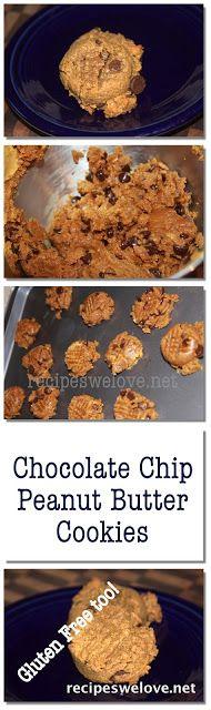 Recipes We Love: Gluten Free chooolate chip peanut butter cookies