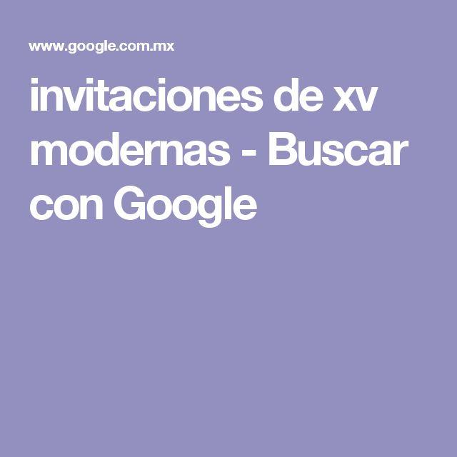 invitaciones de xv modernas - Buscar con Google