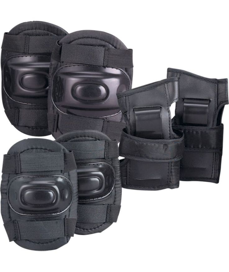Buy Skate Knee, Elbow and Wrist Pads - Black at Argos.co.uk - Your Online Shop for Skateboard and skate accessories, Safety helmets and pads.