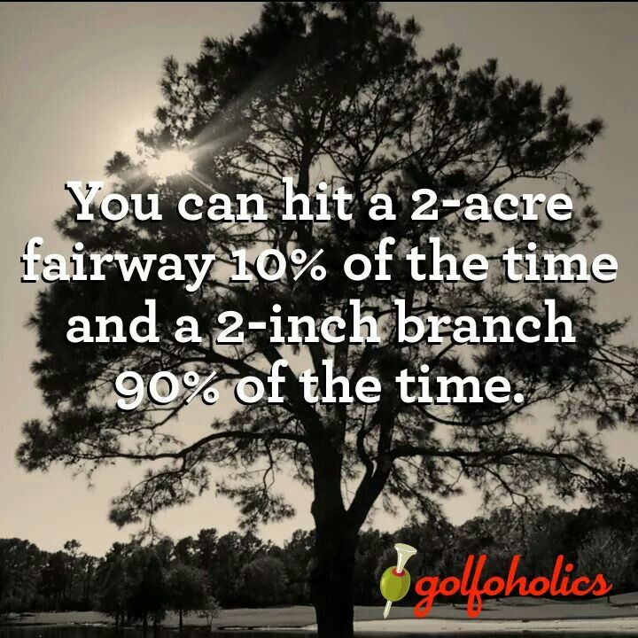 You can hit a 2-acre fairway 10% of the time and a 2-inch branch 90% of the time I Rock Bottom Golf #rockbottomgolf