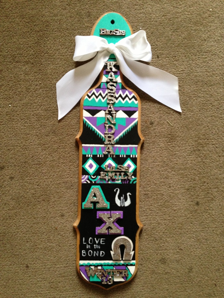 This is the paddle I want, but Phi Mu obviously. And I really want the crest to be incorporated into it somewhere