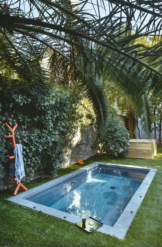 Tropicale et agréable ! A noter : le porte manteau pour laisser sécher sa serviette #pool #dccv #swimmingpool #piscine