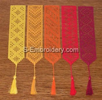 Filet Crochet Bookmarks for sale, but these would be easy to duplicate