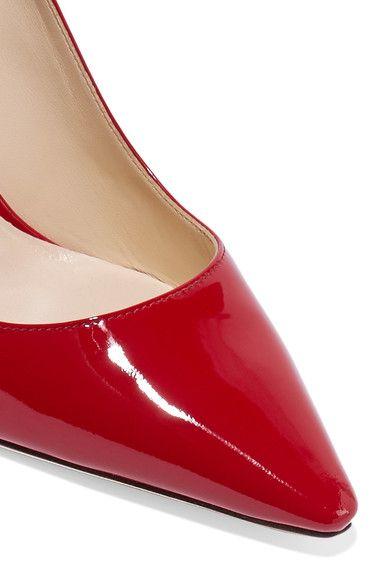 Jimmy Choo - Romy Patent-leather Pumps - Red