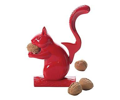 Schiaccianoci in alluminio scoiattolo rosso, 16x23x7 cm