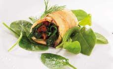 recept AEG stoomoven Scholfiletrolletjes met spinazie