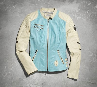 Summer adventure awaits. Lightweight leather, nice for warmer temps, won't weigh you down while spending hours of sight-seeing from behind the handlebars. | Harley-Davidson Women's Escapades Leather Jacket