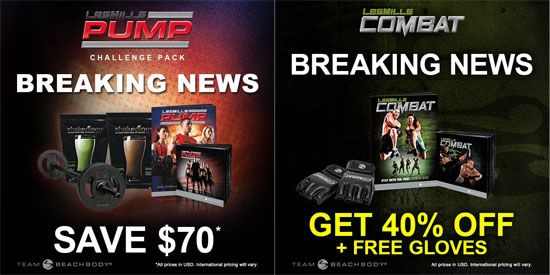 Les Mills Pump and Les Mills Combat are on huge sale! Here are the details and links to order. http://operation-fit.com/pump-combat-sale