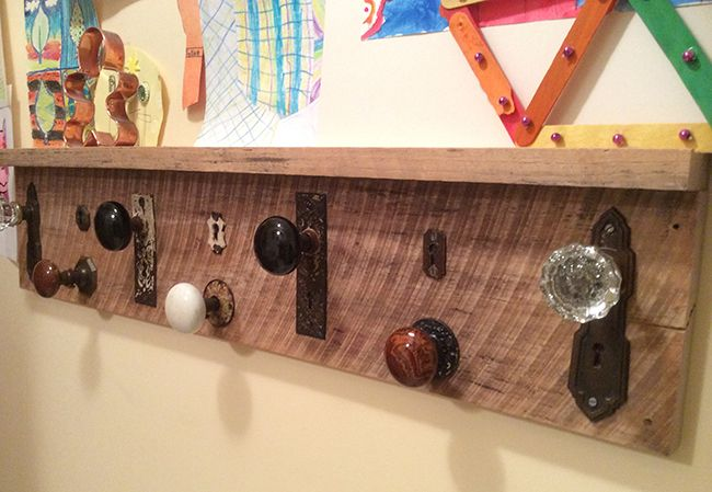 Just about everyone needs a coat rack in the foyer, by the mudroom, or in the workshop. Get creative and have some fun making your own! Finding and repurposing interesting old doorknobs, plumbing fixtures or tools is just part of the fun. Check out this fun blog for the DIY way to do this!