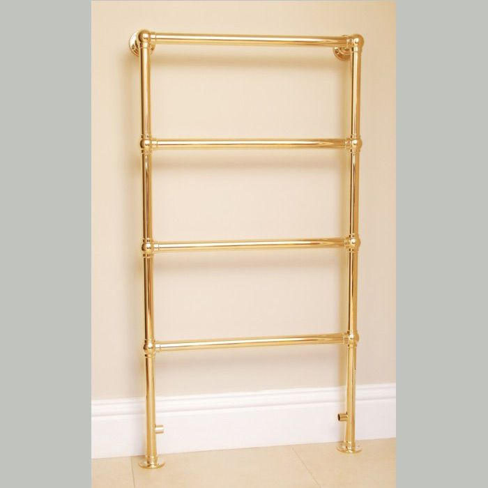 The Chester Heated Towel Rail. The Chester Traditional ball jointed towel warmer is handcrafted from DZR brass in our factory in the South of England.  This traditional towel rail is wall and floor mounted.  This towel rail is hand polished. All the plating procedures are undertaken within our own factory which eliminates any damages prior to it being packaged.
