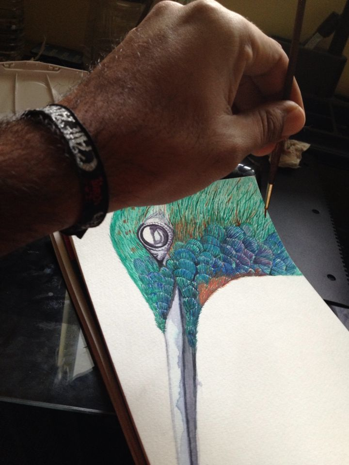 Learning Water Colours Sept 23, 2014.