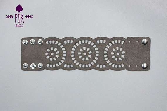 NEW model HOT PRICE Leather Bracelet cuff Leather por PikBracelet