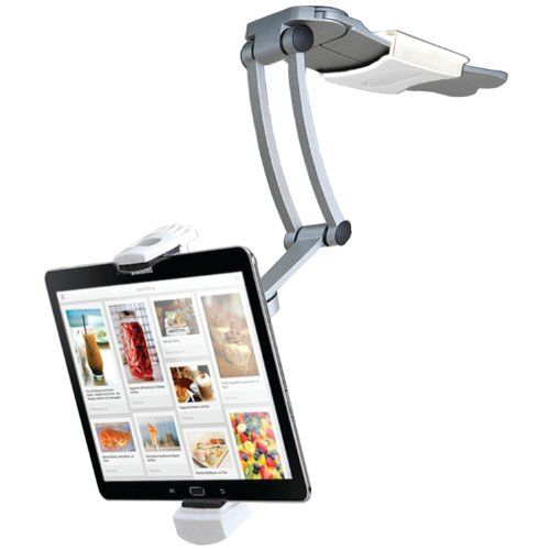 CTA Digital 2-in-1 Kitchen Mount Stand for iPad Air, iPad mini, Surface, & Other 7-12 Inch Tablets (PAD-KMS) CTA Digital