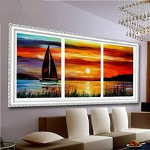 Kolorowanki by numbers akrylowa farba do malowania dekoracje na ścianie sypialni kolory zdjęcia 40x50x3 tanie nowoczesne malarstwo r3018(China (Mainland))