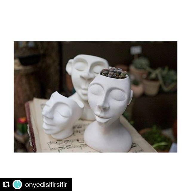 #terraquadesign #nofilter #ceramics #ceramic #heykel #seramik #headpot #pot #pottery #design #tasarım #saksı #litops #instalike #instadaily #instagarden #store #interiordesign #plantshop #head #sculpture #white #pure #monday #istanbul