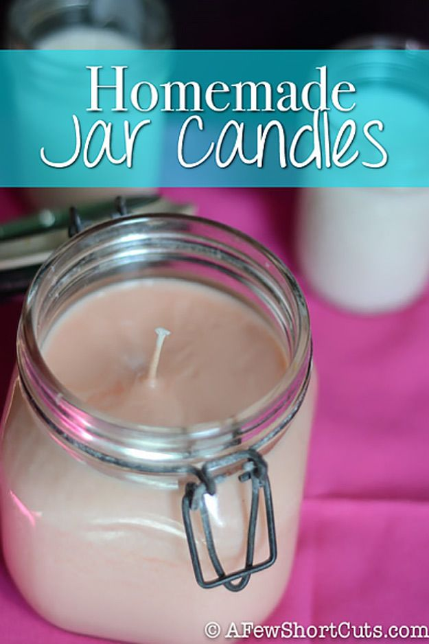 76 Crafts To Make and Sell - Easy DIY Ideas for Cheap Things To Sell on Etsy, Online and for Craft Fairs. Make Money with These Homemade Crafts for Teens, Kids, Christmas, Summer, Mother's Day Gifts. |  Homemade Jar Candles  |  diyjoy.com/crafts-to-make-and-sell