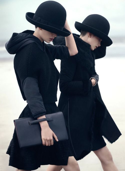 Amra Cerkezovic & Benthe de Vries by Boo George for Emporio Armani Fall/Winter 2014/2015 Campaign
