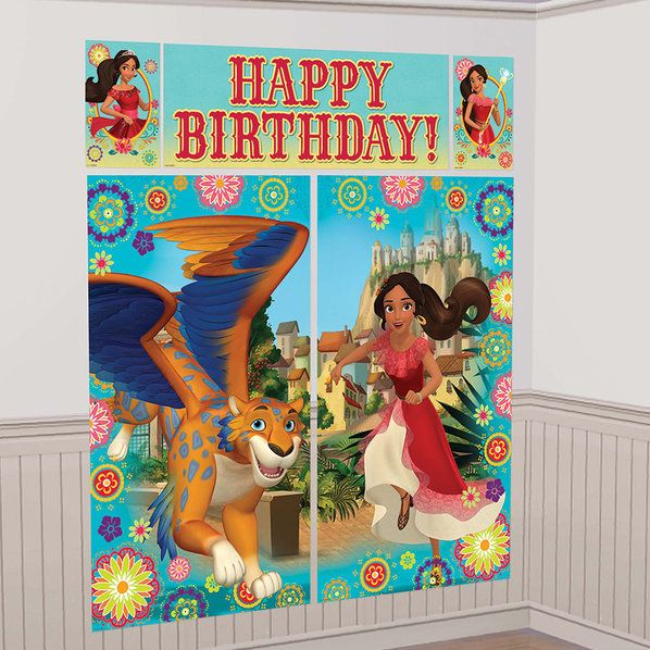 Check out Elena of Avalor Scene Setter Wall Decorating Kit | Elena of Avalor Party Supplies from Birthday in a Box from Birthday In A Box