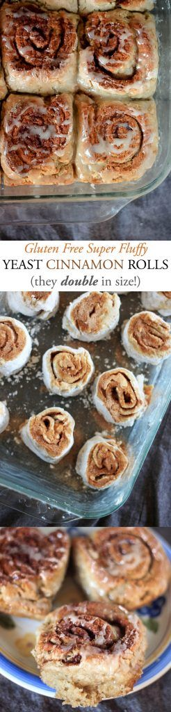 Gluten Free Cinnamon Rolls--yeasty and fluffy, these babies double in size!
