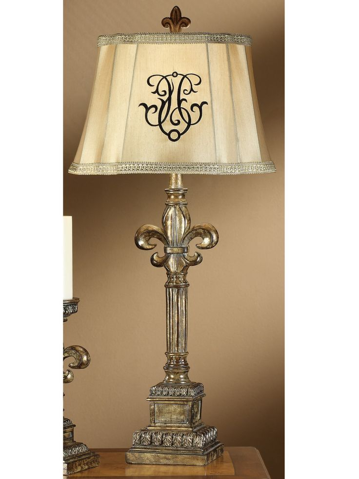 The Fleur De Lis Table Lamp Features A Classic Design That Will Update The  Look Of Your Home Thanks To The Silver Opulent Finish. With A Double Cut  Corner ...